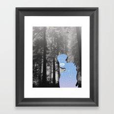 Monster in Forrest Framed Art Print