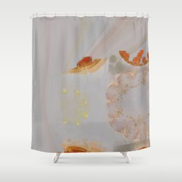 Parasexual Constitution Flowers  ID:16165-134603-28710 Shower Curtain