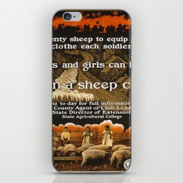 Vintage poster - Sheep Club iPhone Skin
