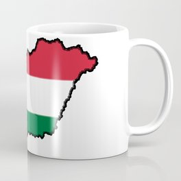 Hungary Map with Hungarian Flag Coffee Mug