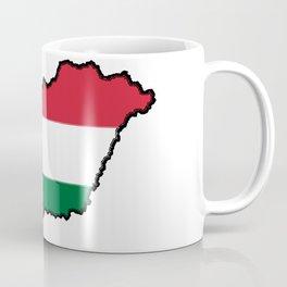 Hungary Map with Hungarian Flag Coffee Mug