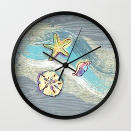 Starfish Beach-Comber Wall Clock