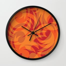 Red Natured Foilage Wall Clock
