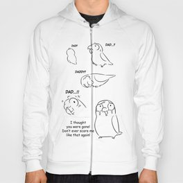 Separation anxiety on pet birds - Dad version Hoody