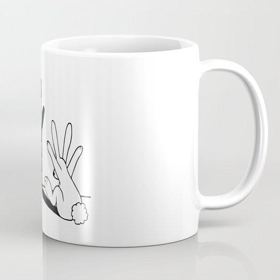 Rabbit Hand Shadow Mug