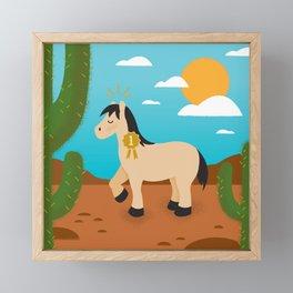 Show Pony Framed Mini Art Print
