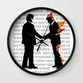 #WISH YOU WERE HERE #1 Wall Clock