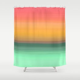 Vibrant Sunset Seascape Abstract #4 Shower Curtain