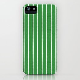 Holiday Hexies Green Stripe iPhone Case