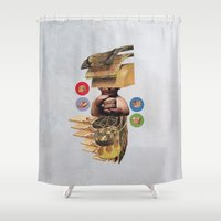 burger Shower Curtains featuring Burger by Lerson