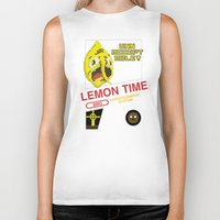 lemongrab Biker Tanks featuring NES Lemongrab by IF ONLY