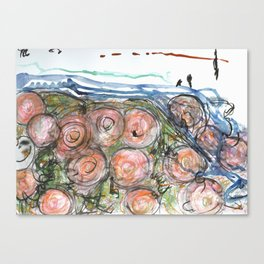 Watered Roses Canvas Print