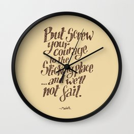 If we should fail? Wall Clock