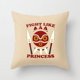 Fight like a princess Throw Pillow