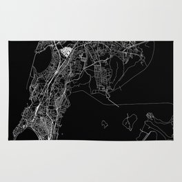 Mumbai Black Map Rug