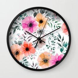 Papaver Rhoeas Wall Clock