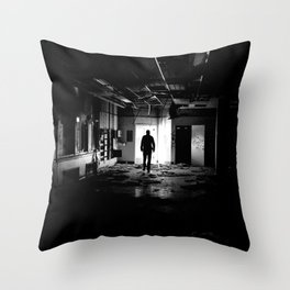 Abandoned Kodak Building Throw Pillow