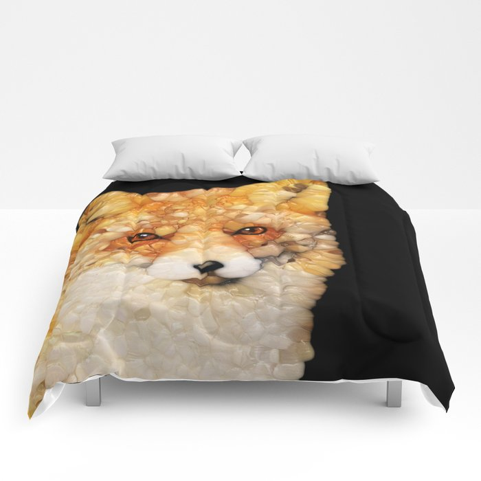 Red Fox Abstract Comforters