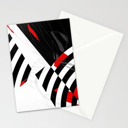 black and white meets red Version 8 Stationery Cards
