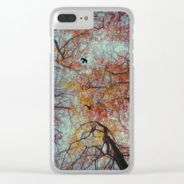 Trees In Fall Clear iPhone Case