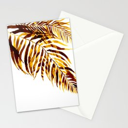 Palm trees, leavs Stationery Cards