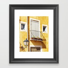 Spanish balcony Framed Art Print