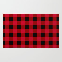 Red and Black Check Rug