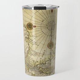 Map Of North Pole 1800 Travel Mug