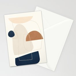 Spiraling Geometry 4 Stationery Cards