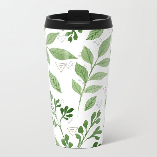 Plants with triangles Metal Travel Mug
