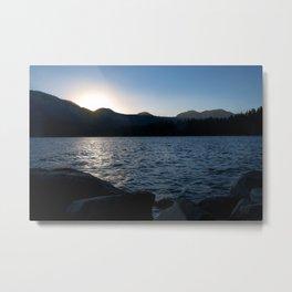 Fallen Leaf Lake at Sunset Metal Print