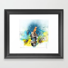 MINGA x Pop Lock it Polka Framed Art Print