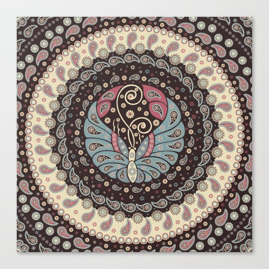 Butterfly Mandala Canvas Print