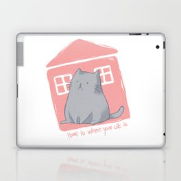 Home is where your cat is Laptop & iPad Skin