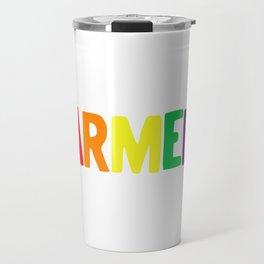 Armed Rainbow Colors Pride Self Defense 2nd Amendment LGBTQ print Travel Mug