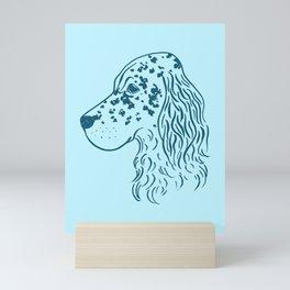 English Setter (Light Blue and Blue) Mini Art Print