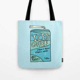Iced Coffee Juicebox Tote Bag