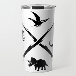 Hipster Dinosaurs Logo (black version) Travel Mug