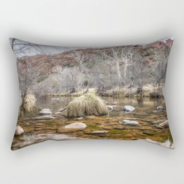 Oak Creek and Cathedral Rock from Red Rock Crossing Rectangular Pillow