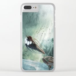 The Intrepid arrives at Carthage - Green Clouds Clear iPhone Case