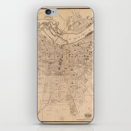 Map Of Louisville 1873 iPhone Skin