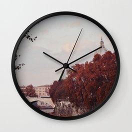 Autumn in Rome Wall Clock