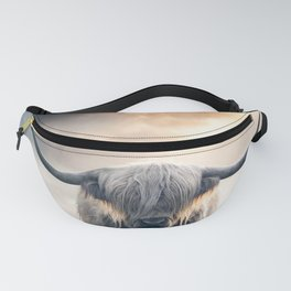 highland cattle scotland Fanny Pack