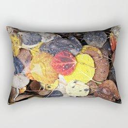 Multicolored Aspen Leaves in Woods Rectangular Pillow