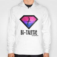 bisexual Hoodies featuring Bi-Tastic Bisexual medalion  by SuperQueero