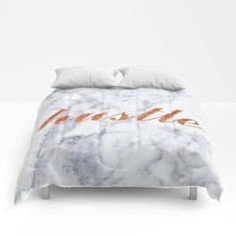 Hustle Marble Brass Copper Bronze Comforters