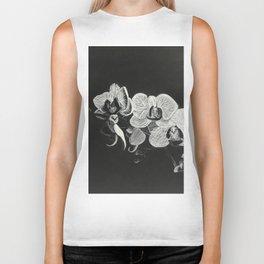 White Orchids II Biker Tank