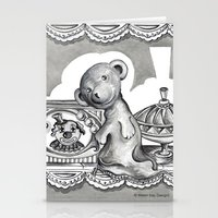 teddy bear Stationery Cards featuring Teddy by Alison Day Designs