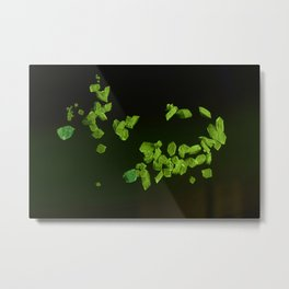 Green fluorescent crystals Metal Print