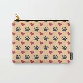 Dog paw heart Carry-All Pouch
